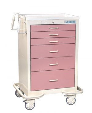 6 Drawer Medical Cart with Proximity Reader