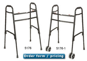 Bariatric Folding Walker - 750 Pound Capacity