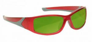 Alexandrite Diode YAG Advanced Laser Safety Glasses - Model #808 - Red
