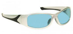 YAG, Alexandrite Diode, Holmium Laser Safety Glasses - Model 808 - Silver